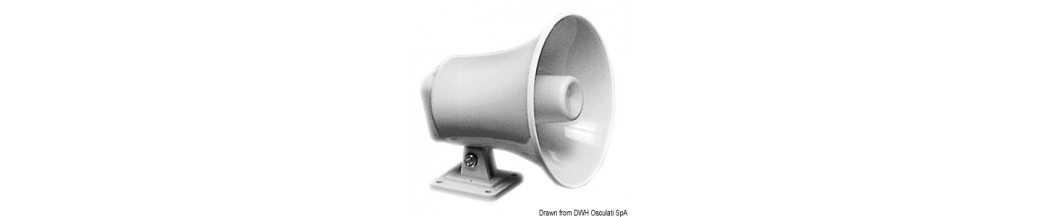 Haut-parleurs amplificateurs marins pour usage externe