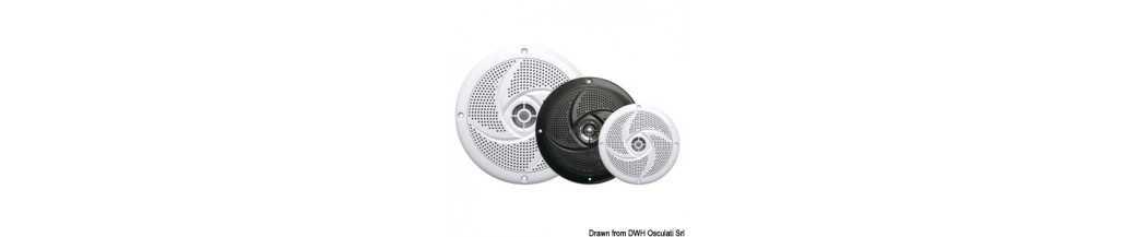 Haut-parleurs stéréo double cône ultraplats